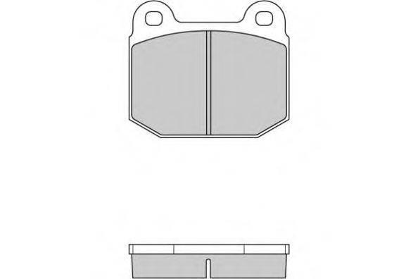 E.T.F. 120085 Комплект тормозных колодок, дисковый тормоз