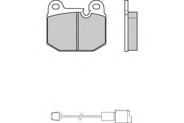 E.T.F. 120144 Комплект тормозных колодок, дисковый тормоз