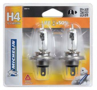 MICHELIN 008714 Лампа накаливания, фара дальнего света; Лампа накаливания, основная фара; Лампа накаливания, противотуманная фара
