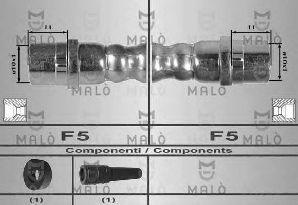 MALO 80171 Тормозной шланг