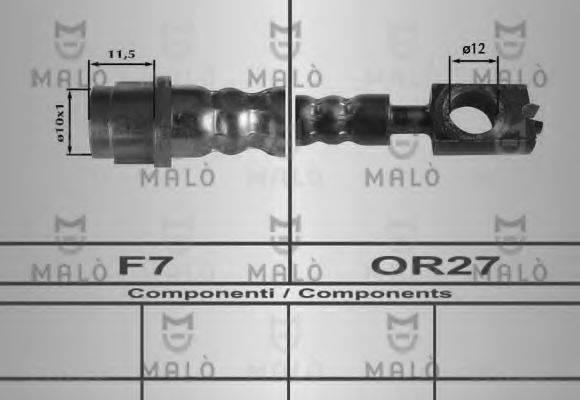 MALO 80254 Тормозной шланг