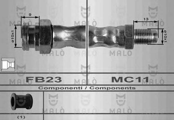 MALO 8350 Тормозной шланг