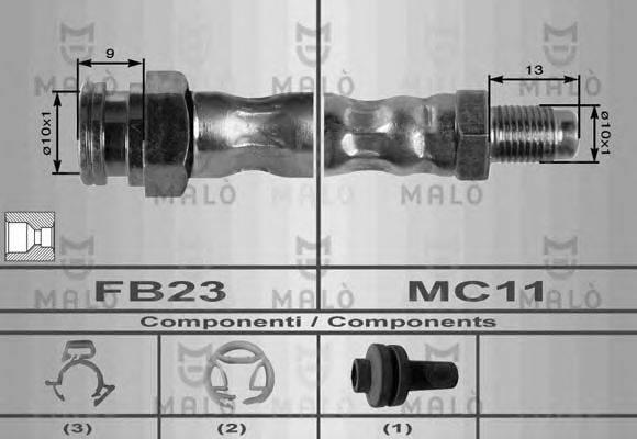 MALO 8436 Тормозной шланг