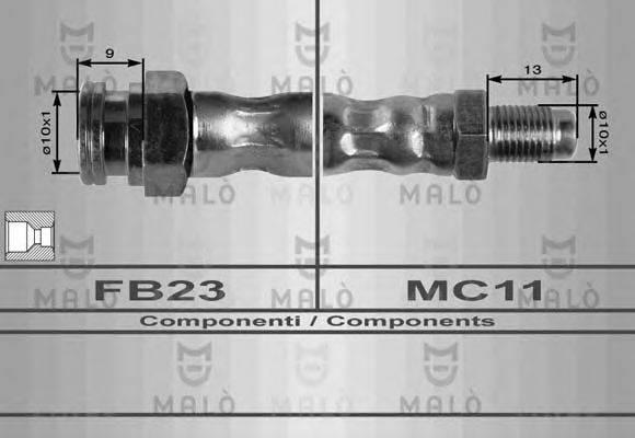MALO 8459 Тормозной шланг