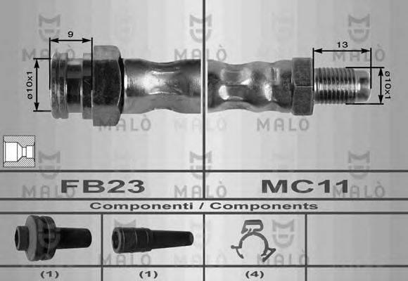 MALO 8484 Тормозной шланг