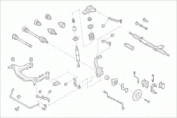 SACHS AUDIA4FS003 Рулевое управление; Подвеска колеса