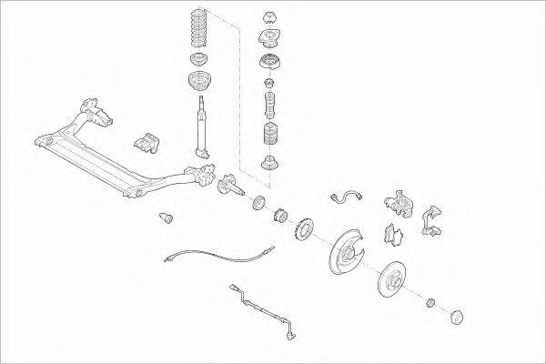 SACHS AUDIA4AVRS002 Рулевое управление; Подвеска колеса