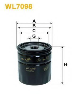 WIX FILTERS WL7098 Масляный фильтр