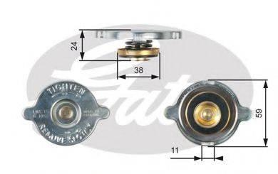 GATES RC116 Крышка, радиатор