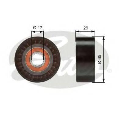 GATES T36376 Паразитный / ведущий ролик, поликлиновой ремень