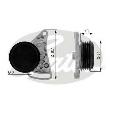 GATES T38068 Натяжной ролик, поликлиновой  ремень