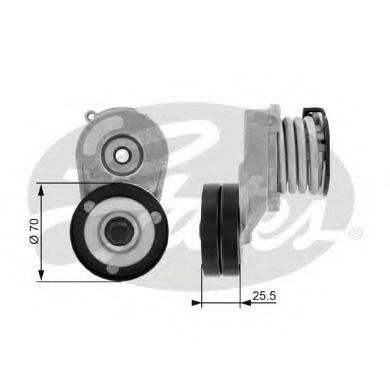 GATES T38432 Натяжной ролик, поликлиновой  ремень