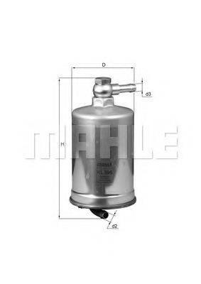 KNECHT KL599 Топливный фильтр
