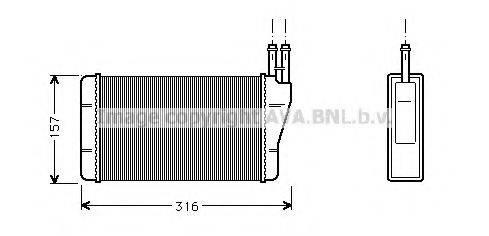 PRASCO OL6004 Теплообменник, отопление салона