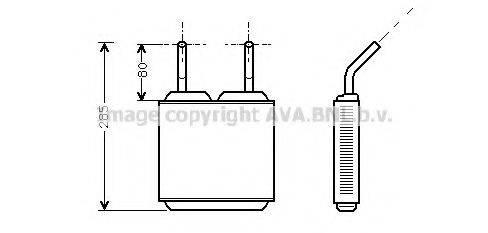 PRASCO OL6115 Теплообменник, отопление салона