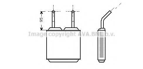 PRASCO OL6160 Теплообменник, отопление салона