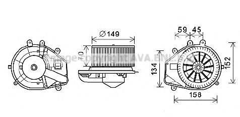 PRASCO VW8352 Электродвигатель, вентиляция салона