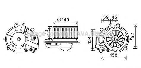 PRASCO VW8353 Электродвигатель, вентиляция салона