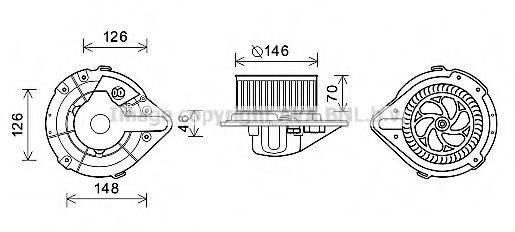 PRASCO AI8370 Электродвигатель, вентиляция салона