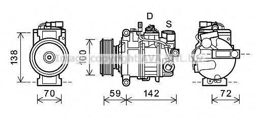 PRASCO AIK338 Компрессор, кондиционер