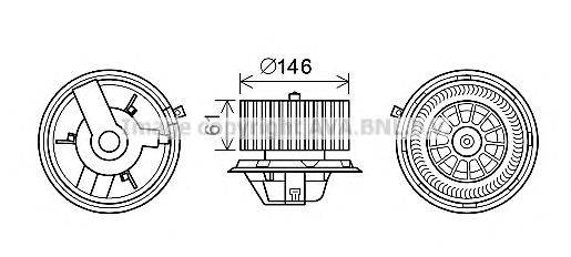 PRASCO AL8140 Электродвигатель, вентиляция салона