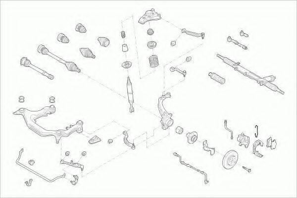 LEMFORDER AUDIA4AVFL002 Рулевое управление; Подвеска колеса