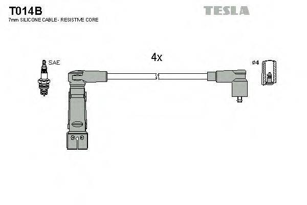 TESLA T014B Комплект проводов зажигания