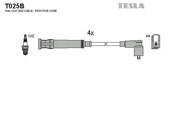 TESLA T025B Комплект проводов зажигания