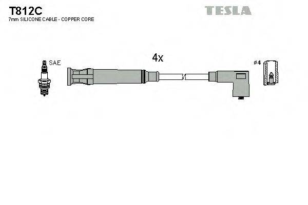 TESLA T812C Комплект проводов зажигания