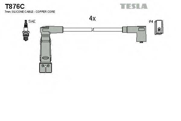 TESLA T876C Комплект проводов зажигания
