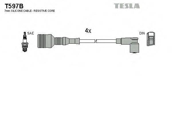TESLA T597B Комплект проводов зажигания