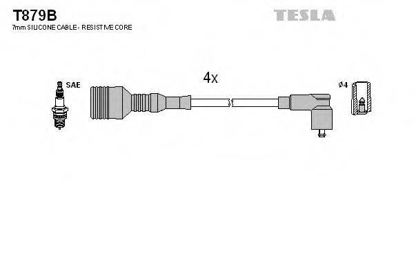 TESLA T879B Комплект проводов зажигания
