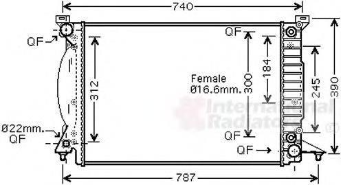 VAN WEZEL 03002244 Радиатор, охлаждение двигателя