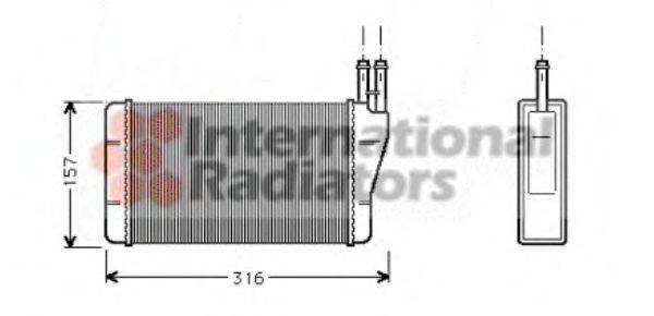 VAN WEZEL 37006004 Теплообменник, отопление салона