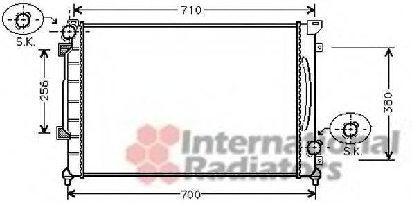 VAN WEZEL 03002139 Радиатор, охлаждение двигателя