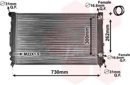 VAN WEZEL 03002125 Радиатор, охлаждение двигателя