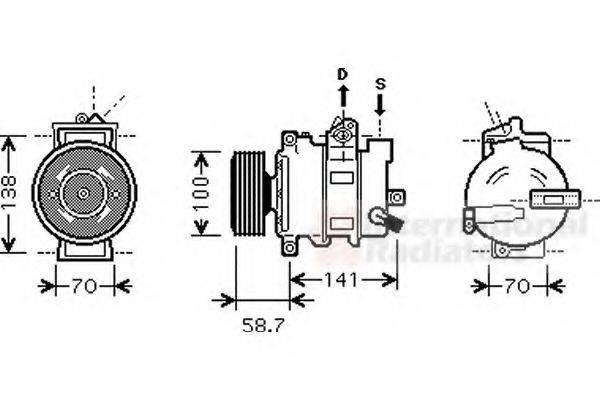 VAN WEZEL 0300K287 Компрессор, кондиционер