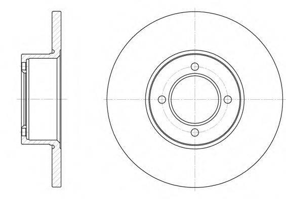 WOKING D612700 Тормозной диск