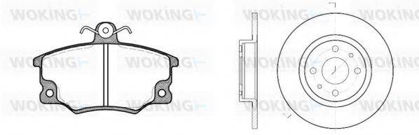 WOKING 8046301 Комплект тормозов, дисковый тормозной механизм