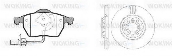 WOKING 8290307 Комплект тормозов, дисковый тормозной механизм