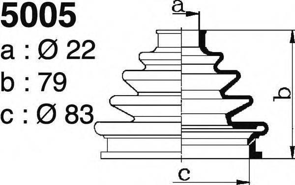 DEPA 5005 Комплект пылника, приводной вал