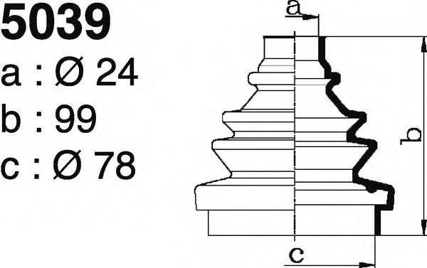 DEPA 5039 Комплект пылника, приводной вал