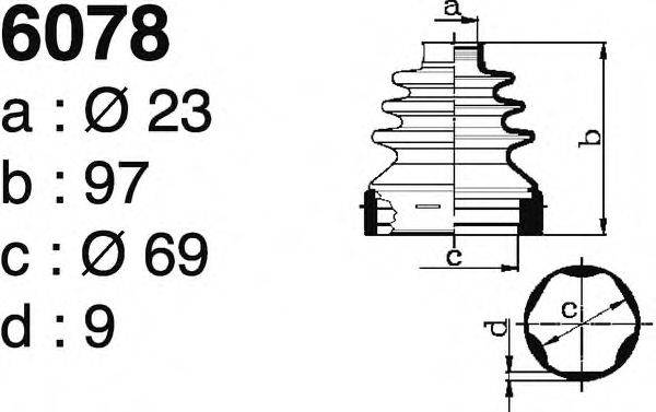 DEPA 6078 Комплект пылника, приводной вал