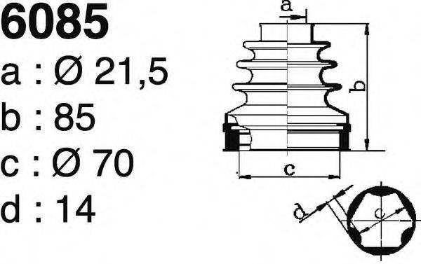 DEPA 6085 Комплект пылника, приводной вал
