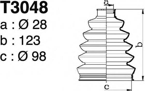 DEPA T3048 Комплект пылника, приводной вал