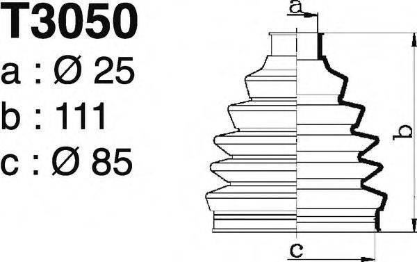 DEPA T3050 Комплект пылника, приводной вал