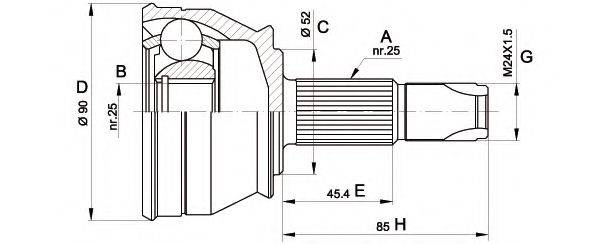 OPEN PARTS CVJ521110 Шарнирный комплект, приводной вал
