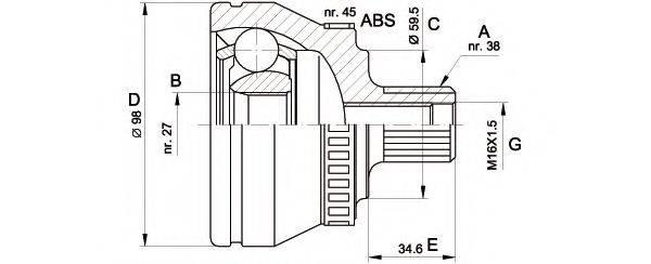 OPEN PARTS CVJ526110 Шарнирный комплект, приводной вал