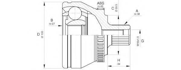 OPEN PARTS CVJ562110 Шарнирный комплект, приводной вал