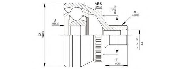 OPEN PARTS CVJ566610 Шарнирный комплект, приводной вал